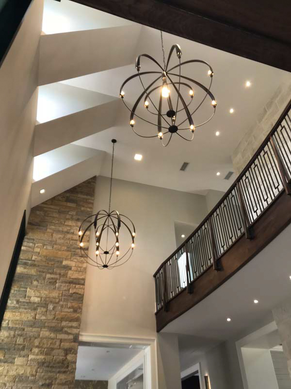 Kelly Electric installs and repairs home light fixtures