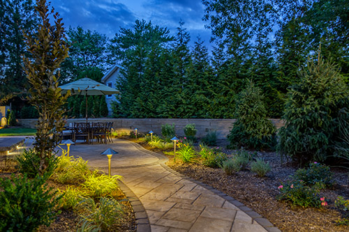 Kelly Electric can design and install landscape lighting