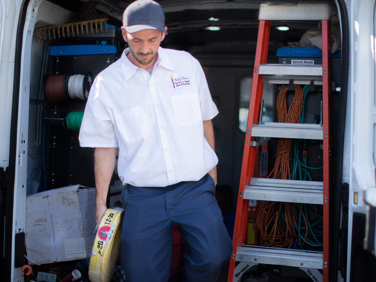 the experts at Kelly Electric come equipped to handle most jobs the same day